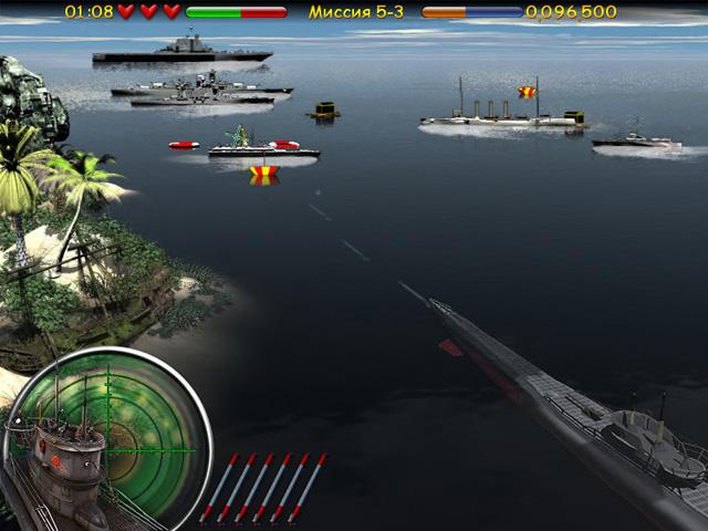 Подводная война, скачать игру Морской бой. Подводная война бесплатно